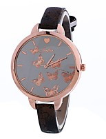 Women's Dress Watch Fashion Watch Wrist watch Chinese Quartz PU Band Charm Elegant Casual Black White Blue Red Brown Pink Beige