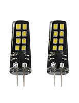 3W G4 LED Bi-pin Lights 16 SMD 2835 200 lm Warm White White 3000-3500  6000-6500 K DC 12 V 2pcs