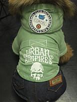 Cane Tuta Abbigliamento per cani Casual Geometrico Caffè Verde Blu