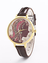 Women's Fashion Watch Quartz Leather Band Casual Black White Blue Silver Red Brown Pink Rose