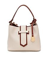 Women Bags All Seasons PU Shoulder Bag Zipper for Casual White