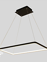 Dimmable LED50W Pendant Light  Rectangle Frame Modern/Comtemporary Black White Feature for  Living Room Dining Room With Remote Controller