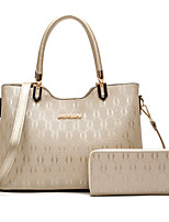 Women Bags All Seasons PU Bag Set Rivet for Office & Career Outdoor Blue Gold Black