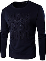 Men's Sports Casual/Daily Simple Active Sweatshirt Solid Round Neck Micro-elastic Cotton Long Sleeve Spring Fall Winter