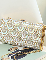 Women Bags All Seasons PU Evening Bag Rivet for Wedding Event/Party Gold Black Silver