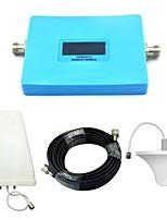 intelligente Anzeige Handy-Signal Booster cdma 850mhz 800mhz Stück 1900mhz Signal Repeater mit Deckenantenne / Log periodische Antenne /