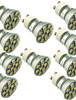 1.5W GU10 LED Spotlight 12 SMD 5050 130 lm Warm White Cold White 2800-7000 K Decorative AC220 V