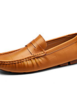 Men's Shoes Leatherette Spring Fall Comfort Loafers & Slip-Ons For Casual Party & Evening Blue Brown Black White