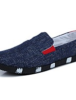 Men's Shoes Fabric Spring Fall Light Soles Loafers & Slip-Ons For Casual Light Blue Blue Black