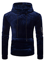 Men's Casual/Daily Simple Street chic Hoodie Solid Hooded Micro-elastic Cotton Long Sleeve Fall Winter