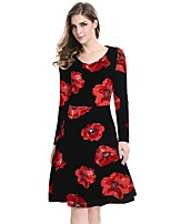 Womens Elegant Vintage Rockabilly Spring Flower Print Pinup Square Neck Party Clubwear Sheath Bodycon Dress
