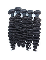 Natural Color Hair Weaves Peruvian Texture Deep Wave 6 Months Five-piece Suit hair weaves