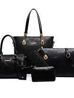 Donna Sacchetti Per tutte le stagioni PU (Poliuretano) sacchetto regola Fiore (i) Cerniera per Formale Blu Oro Bianco Nero