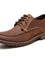 Men's Shoes Nappa Leather Fall Winter Formal Shoes Oxfords For Casual Party & Evening Coffee Black