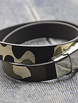 Men's Bracelet Wrap Bracelet Jewelry Punk Simple Style Leather Titanium Steel Round Jewelry For Casual Street