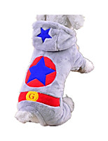 Dog Clothes/Jumpsuit Dog Clothes Casual/Daily Stars Gray