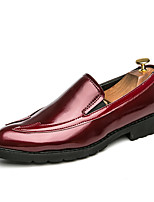 Men's Shoes Patent Leather Spring Fall Comfort Loafers & Slip-Ons For Casual Party & Evening Red Black