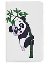 Panda e cartão de padrão de bambu carteira de suporte com suporte flip caso de couro magnético pu para Samsung Galaxy Tab a 10.1 t580n