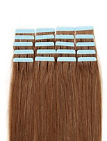 FEBAY Hair Tape In Human Hair Extensions Silky Straight Skin Weft Human Hair Extensions 16-24 Inch