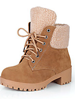 Women's Shoes Suede Fall Winter Comfort Novelty Fashion Boots Bootie Boots Flat Heel Round Toe Booties/Ankle Boots Lace-up For Office &