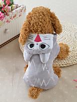Cane Costumi Abbigliamento per cani Casual Cartoni animati Grigio