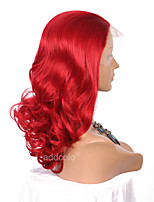 Women Synthetic Wig Lace Front Long Wavy Red Natural Hairline Party Wig Halloween Wig Cosplay Wig Costume Wig