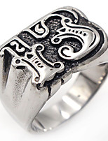 Men's Band Rings Geometric Classic Stainless Steel Number Jewelry For Gift