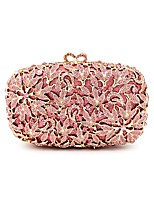 Women Bags All Seasons Metal Evening Bag Crystal Detailing for Wedding Event/Party Champagne