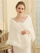 Women's Wrap Shawls Faux Fur Wedding Party/ Evening Fur