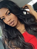 Women Human Hair Lace Wig Brazilian Human Hair 360 Frontal 130% Density With Baby Hair Natural Wave Body Wave Wig Black Short Medium