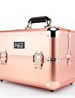 Cosmetic Bag Makeup Storage Solid Quadrate Rose Gold Metal Alloy