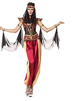 Queen Goddess Egyptian Costumes Cosplay Costumes Halloween Festival/Holiday Halloween Costumes Red Fashion