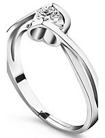 Da coppia Anelli per coppie Anello di polsino Zircone cubico Amore Classico Zirconi Lega A forma di cuore Gioielli Per Matrimonio