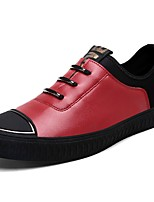 Men's Shoes PU Fall Winter Comfort Loafers & Slip-Ons For Casual Red Gray Black