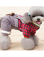 Dog Clothes/Jumpsuit Dog Clothes Casual/Daily Plaid/Check Light Blue Blushing Pink Purple