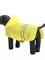 Cat Dog Hoodie Rain Coat Dog Clothes Casual/Daily Waterproof Sports Solid Blue Fuchsia Yellow