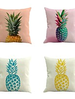 Set Of 4 Tropical Pineapple Fruits Pillow Cover Creative Pillow Case 45*45Cm