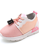 Girls' Shoes Synthetic Fall Winter Comfort Athletic Shoes Walking Shoes Buckle Gore For Athletic Casual Blushing Pink Black White