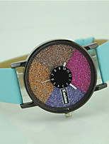 Women's Fashion Watch Wrist watch Quartz Colorful Leather Band Casual Black White Blue Red Green Purple Rose
