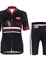 Maillot de Ciclismo con Shorts Mujer Manga Corta Bicicleta Sudadera Camiseta/Maillot Pantalones Cortos Acolchados Sets de Prendas