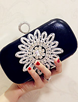 Women Bags All Seasons leatherette Evening Bag Crystal Detailing for Wedding Event/Party Gold Black Silver