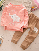 Girls' Others Sets,Cotton Spring Fall Long Sleeve Clothing Set