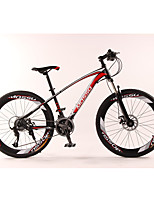 Mountain Bike Cycling 24 Speed 26 Inch/700CC TX30 Disc Brake Suspension Fork Aluminium Alloy Frame Anti-slip Aluminum Alloy