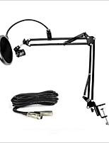 nb-35 suporte para microfone braço de suspensão suporte de braço de tesoura ajustável para gravação de estúdio de mesa com filtro pop cabo