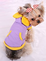 Dog Vest Dog Clothes Casual/Daily Solid Blushing Pink Blue Purple