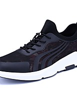 Men's Shoes Tulle Spring Fall Comfort Athletic Shoes Lace-up For Casual Black/Red Black