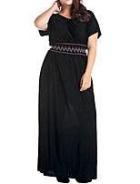 Women's Plus Size Casual/Daily Work Simple Shift Sheath DressSolid Round Neck Mini Above Knee Sleeveless Polyester All Seasons Low Rise