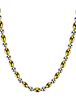 Women's Men's Chain Necklaces Jewelry Circle Stainless Steel Fashion Jewelry For Casual 1 pc