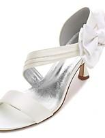 Femme Chaussures Satin Printemps Eté Confort D'Orsay & Deux Pièces Escarpin Basique Bride de Cheville Chaussures de mariage Talon Bas
