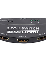 HDMI 1.4 Switch, HDMI 1.4 to HDMI 1.4 Switch Femmina/femmina 4K*2K Acciaio placcato in oro 15.0m (50ft) 10 Gbps